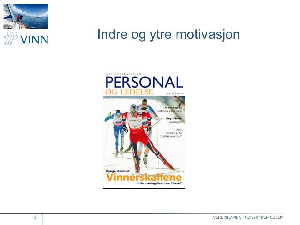 VERDISKAPING I NORSK NÆRINGSLIV 9 Hva skaper indre motivasjon.