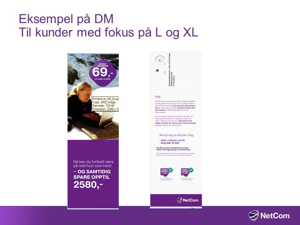 Eksempel på DM Til kunder med fokus på L og XL