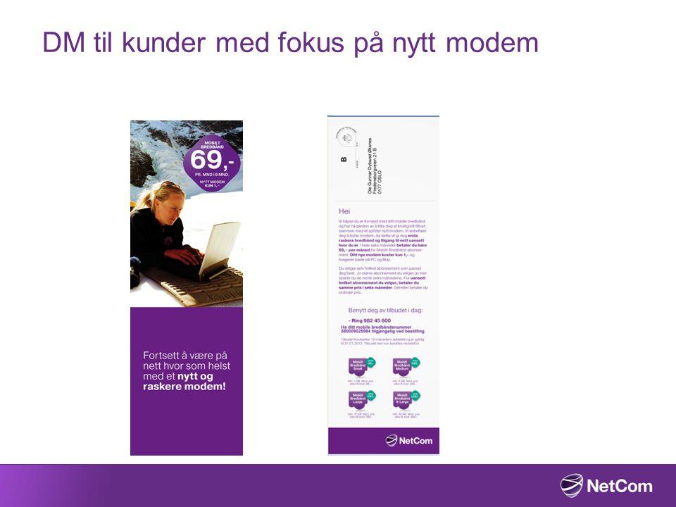 DM til kunder med fokus på nytt modem