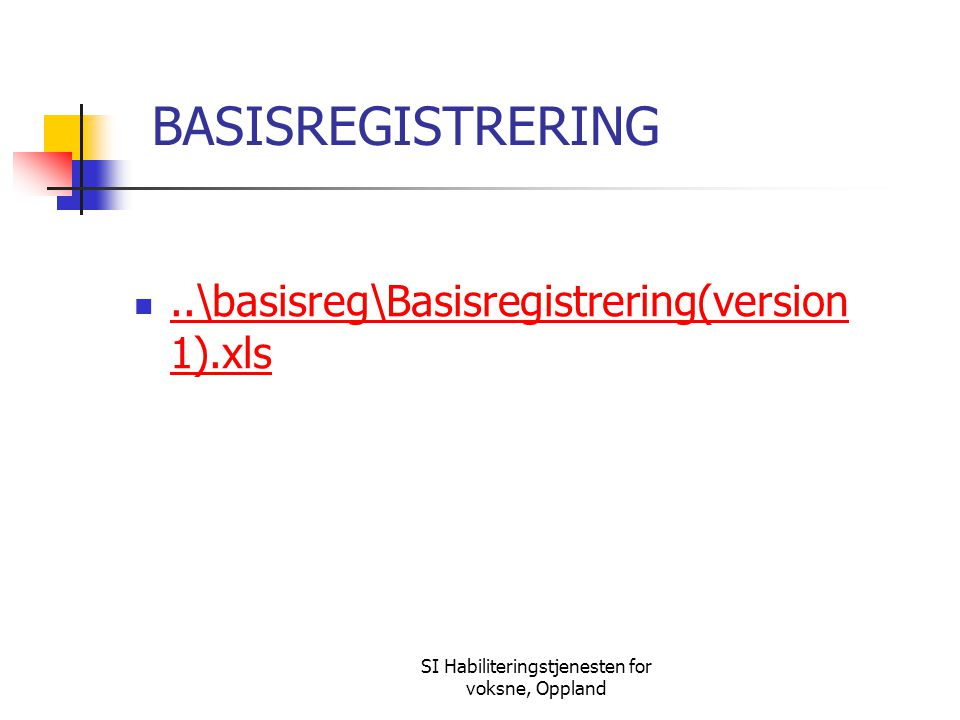 SI Habiliteringstjenesten for voksne, Oppland BASISREGISTRERING..\basisreg\Basisregistrering(version 1).xls..\basisreg\Basisregistrering(version 1).xls