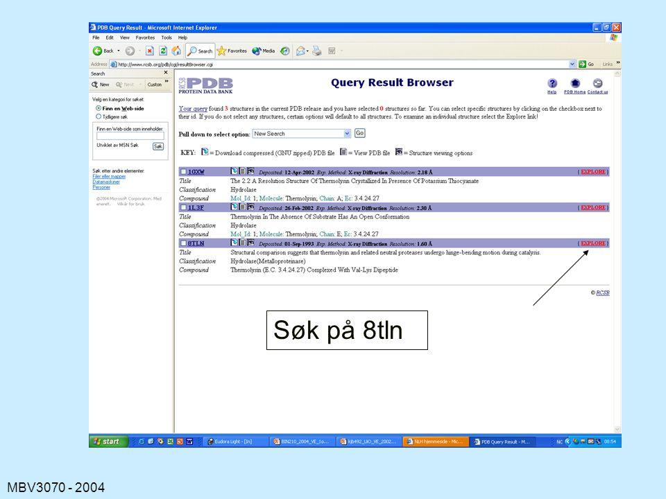 MBV3070 - 2004 Søk på 8tln