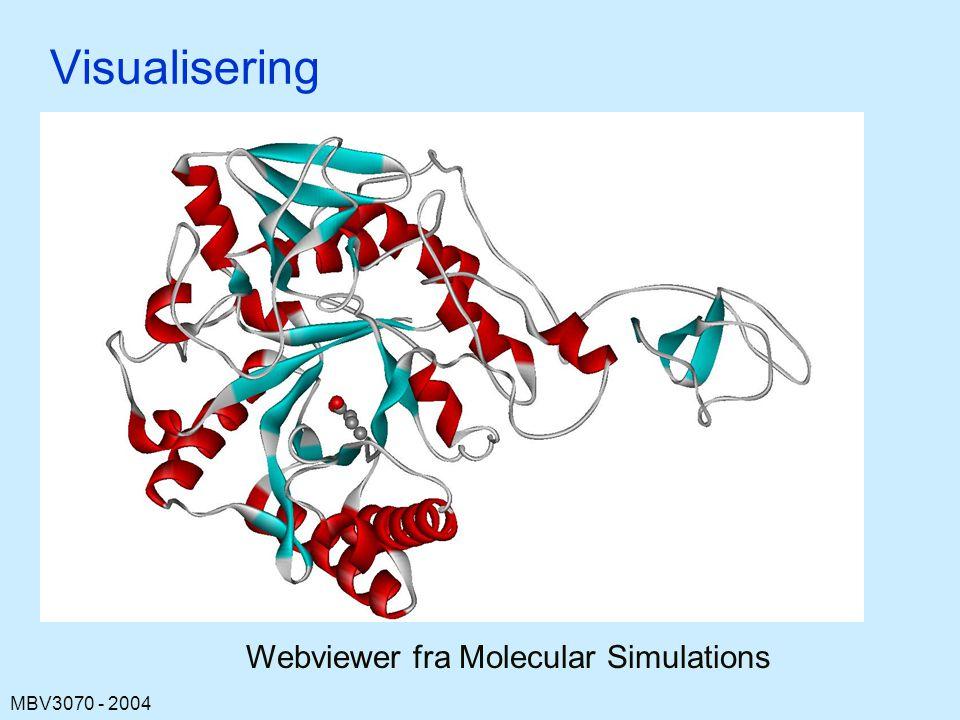 MBV3070 - 2004 Visualisering Webviewer fra Molecular Simulations