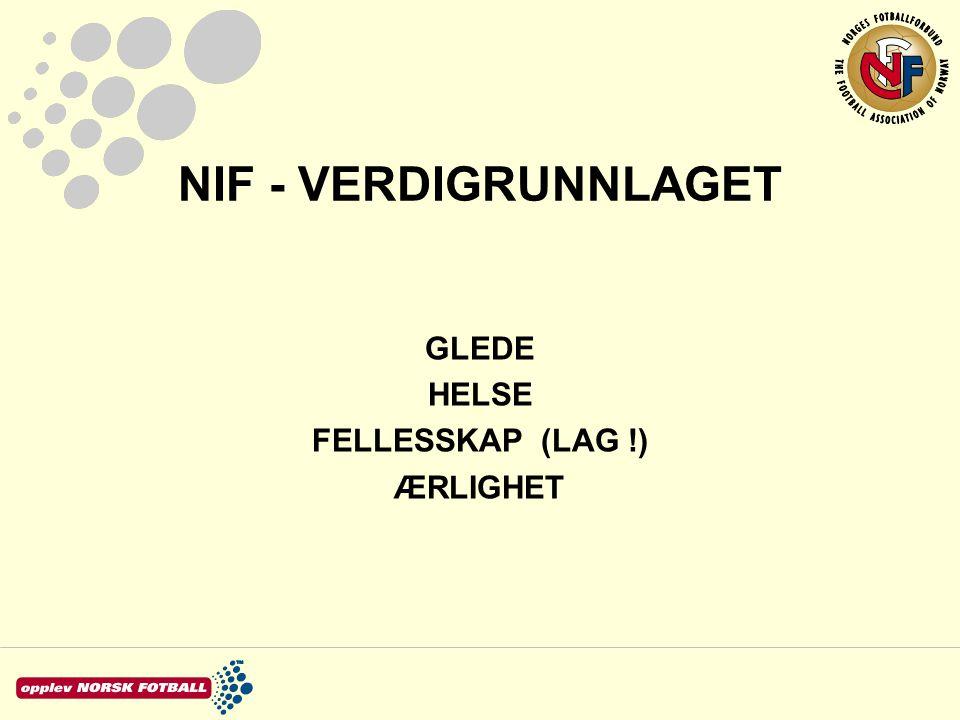 NIF - VERDIGRUNNLAGET GLEDE HELSE FELLESSKAP (LAG !) ÆRLIGHET
