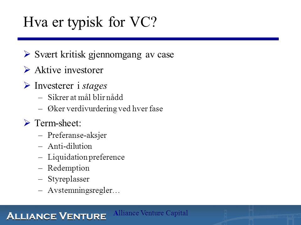 Alliance Venture Capital Hvorfor VC.