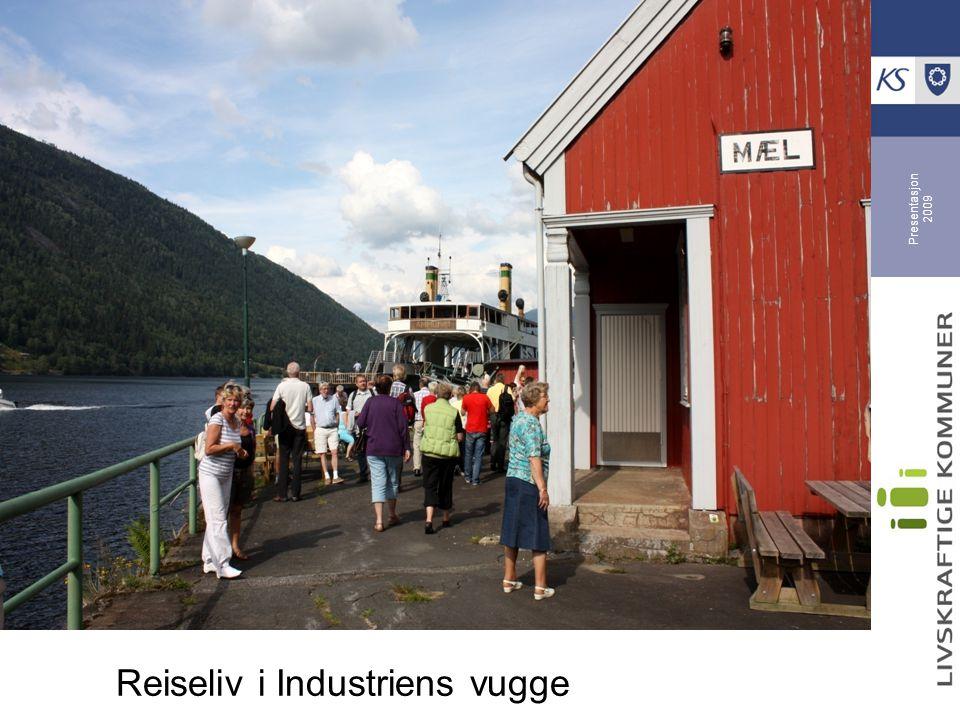 Presentasjon 2009 Tinn, Odda og Narvik - samarbeider Reiseliv i Industriens vugge: - Utvikler opplevelser knyttet til sin natur og industrihistorie - Partnerskap internt og med aktører som NHO, LO og Norsk Industri - Internasjonal markedsføring - Mulig felles utviklingsselskap