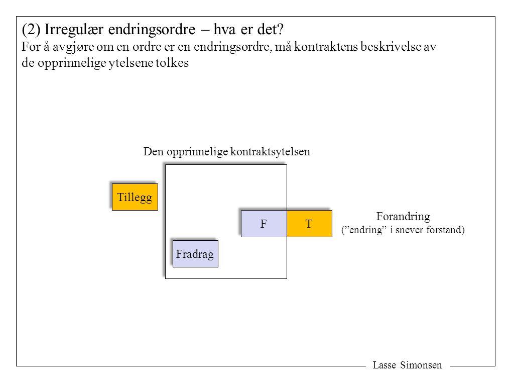 Lasse Simonsen (2) Irregulær endringsordre – hva er det.