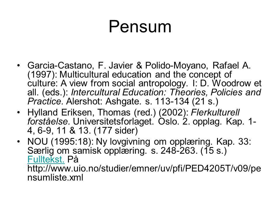 Pensum Garcia-Castano, F.Javier & Polido-Moyano, Rafael A.
