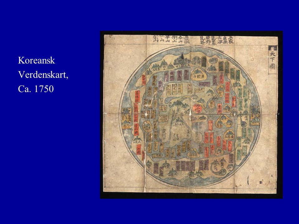 Koreansk Verdenskart, Ca. 1750
