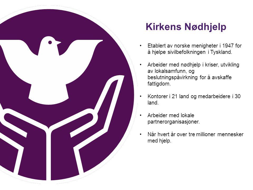 Etablert av norske menigheter i 1947 for å hjelpe sivilbefolkningen i Tyskland. Arbeider med nødhjelp i kriser, utvikling av lokalsamfunn, og beslutni