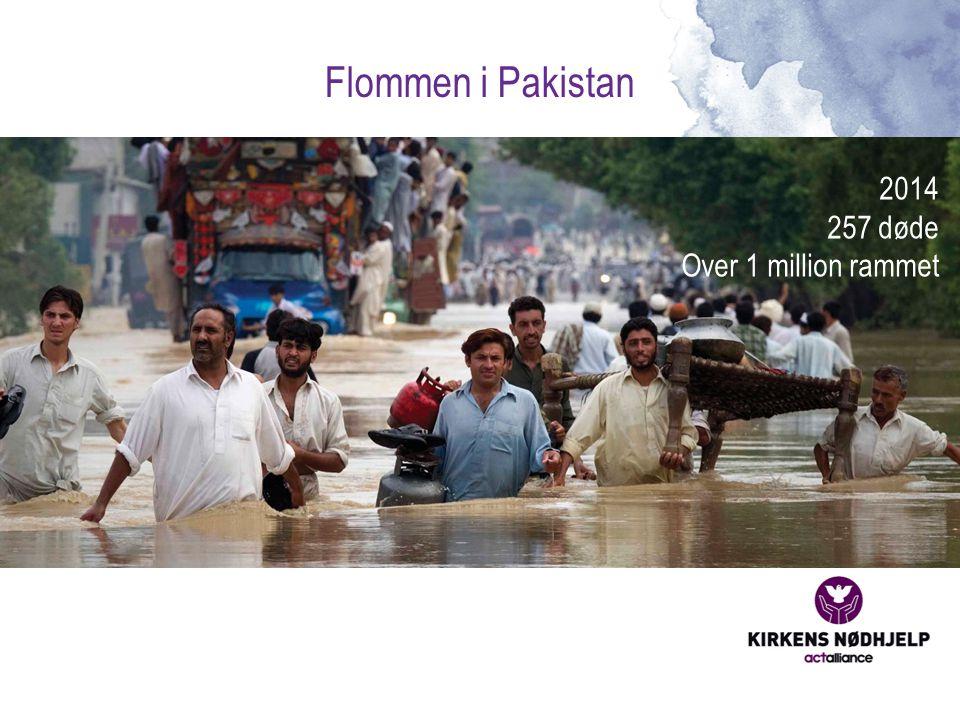 Flommen i Pakistan 2014 257 døde Over 1 million rammet
