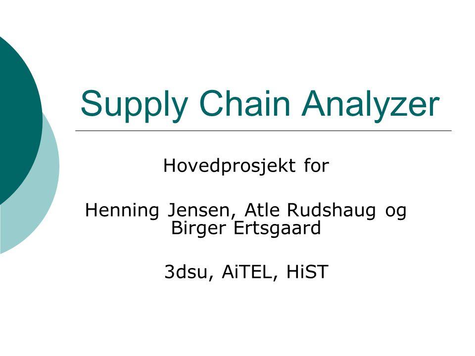 Supply Chain Analyzer Hovedprosjekt for Henning Jensen, Atle Rudshaug og Birger Ertsgaard 3dsu, AiTEL, HiST