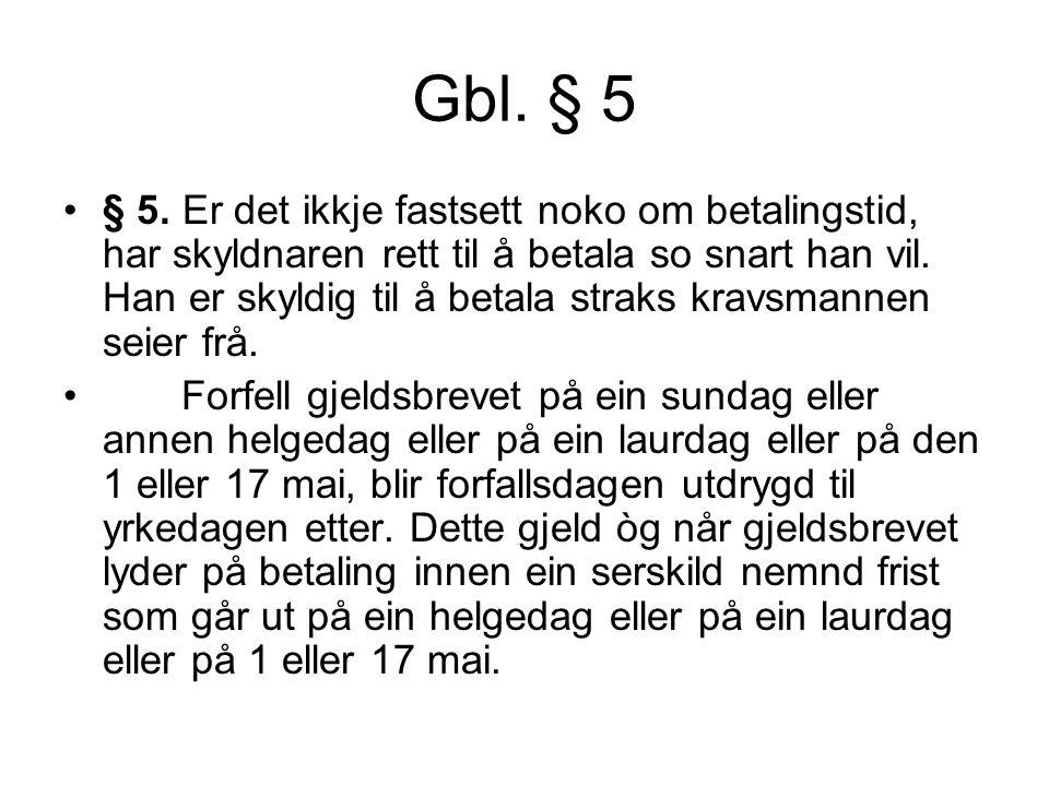 Gbl. § 5 § 5.