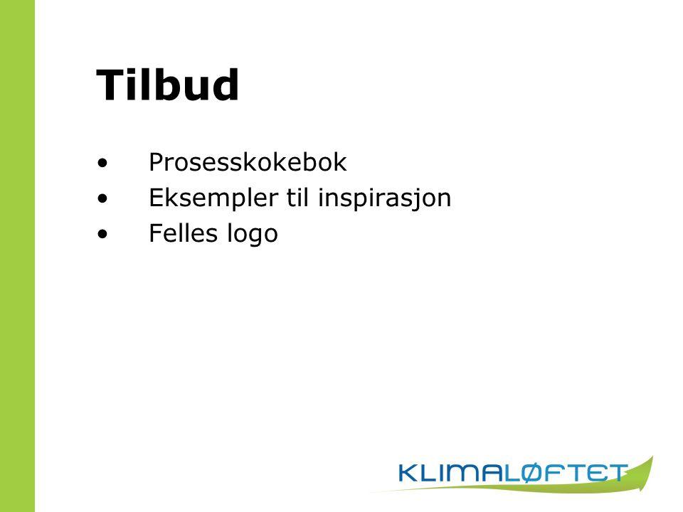 Tilbud Prosesskokebok Eksempler til inspirasjon Felles logo