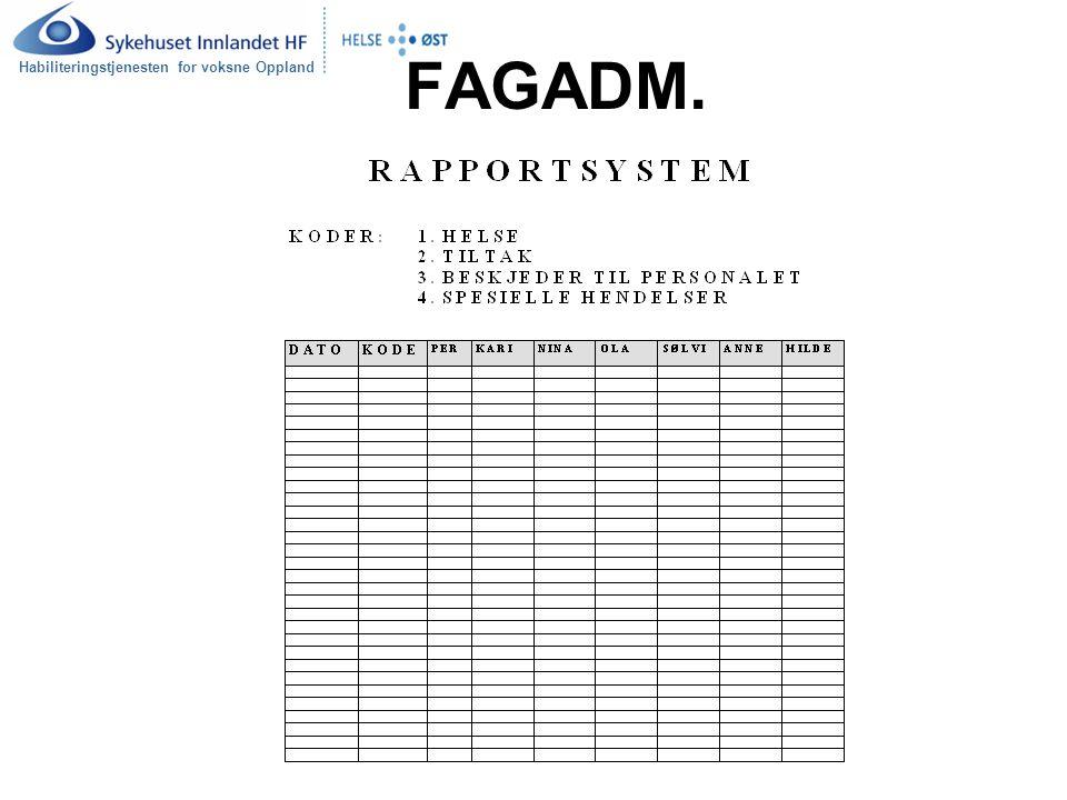 Habiliteringstjenesten for voksne Oppland FAGADM.