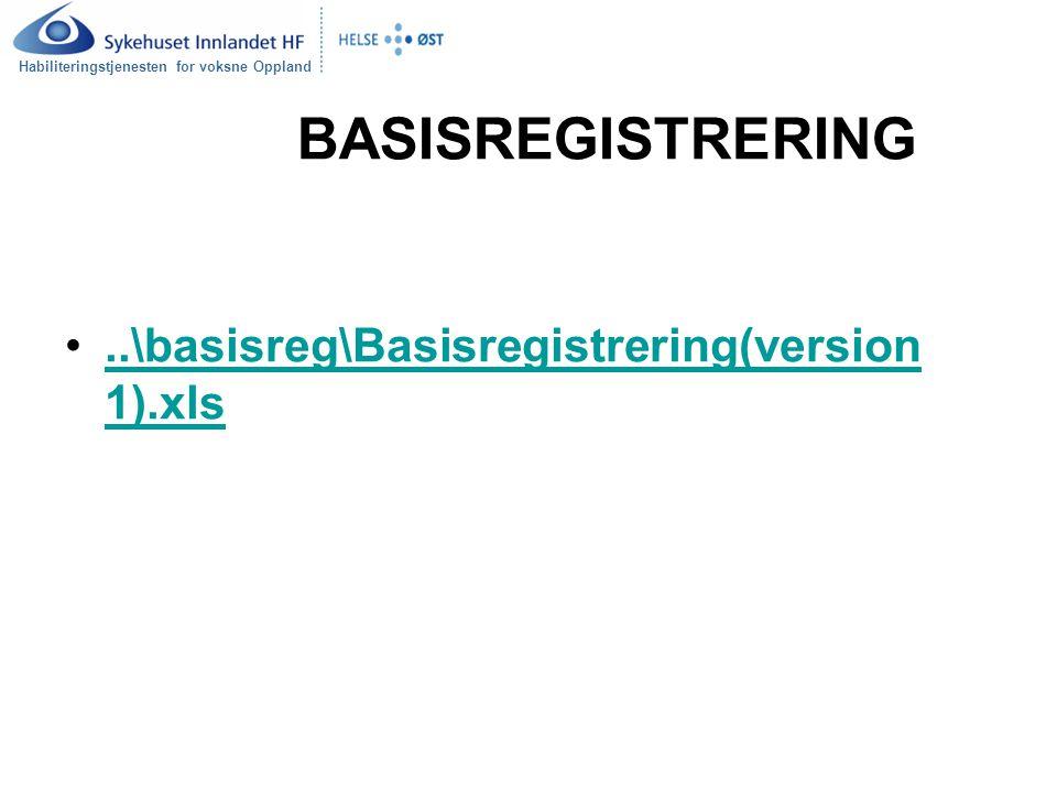 Habiliteringstjenesten for voksne Oppland BASISREGISTRERING..\basisreg\Basisregistrering(version 1).xls..\basisreg\Basisregistrering(version 1).xls