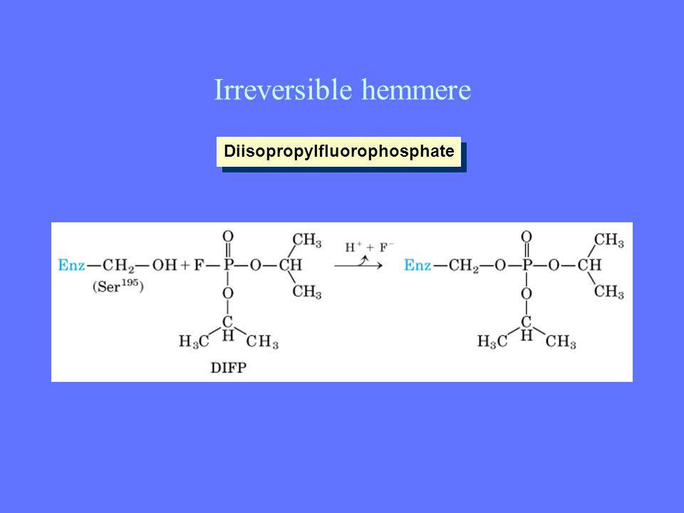 Irreversible hemmere Diisopropylfluorophosphate
