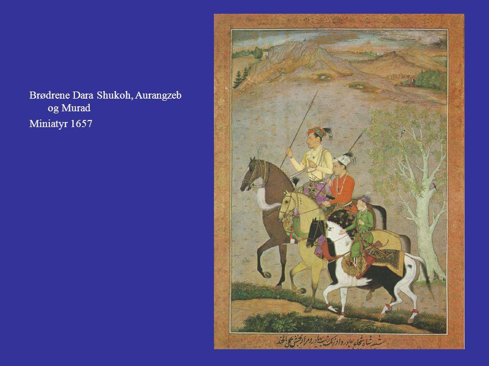 Brødrene Dara Shukoh, Aurangzeb og Murad Miniatyr 1657