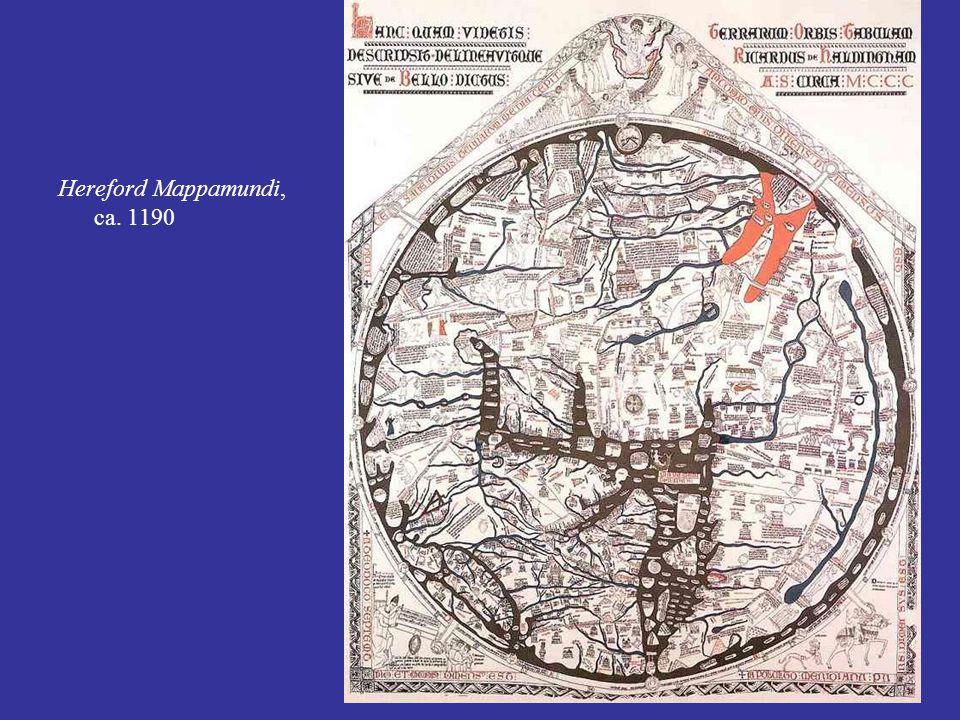 Hereford Mappamundi, ca. 1190