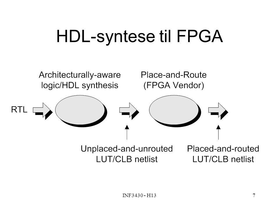 INF3430 - H137 HDL-syntese til FPGA