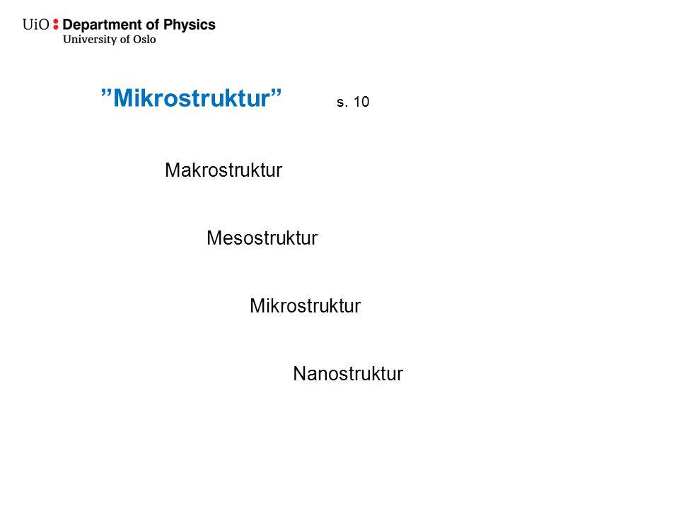 """""""Mikrostruktur"""" Makrostruktur Mesostruktur Mikrostruktur Nanostruktur s. 10"""