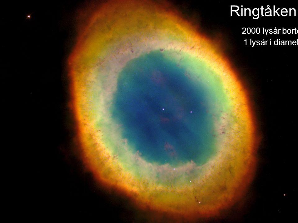 AST1010 - Stjernenes sluttstadier11 Ringtåken 2000 lysår borte 1 lysår i diameter