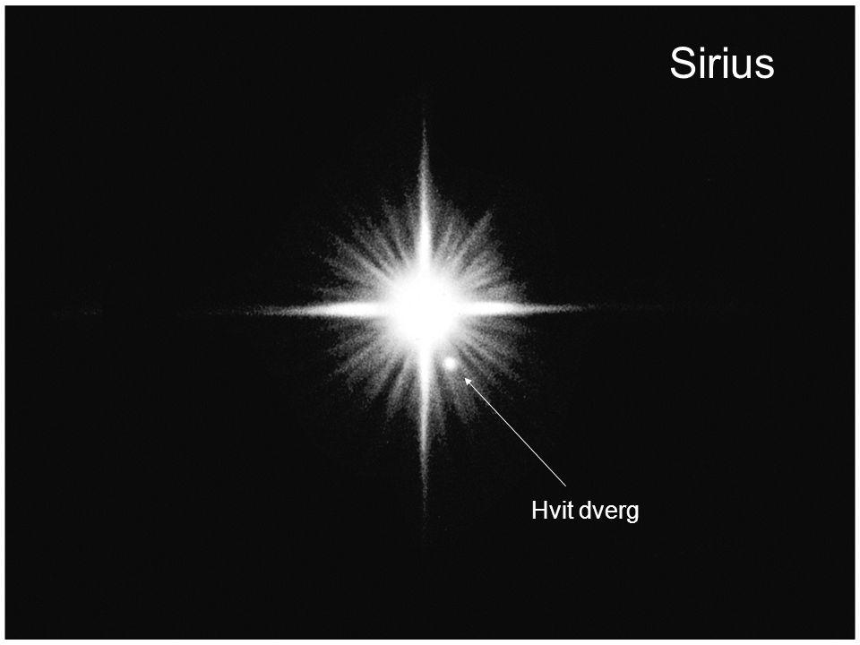 AST1010 - Stjernenes sluttstadier24 Sirius Hvit dverg