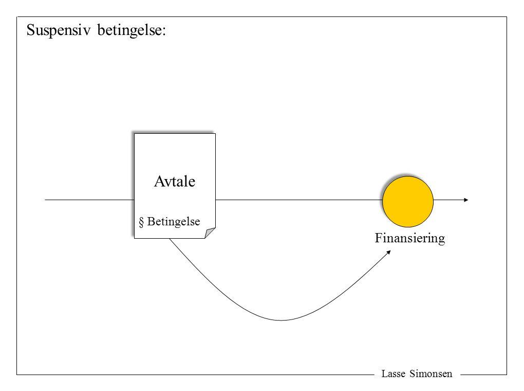 Lasse Simonsen Avtale § Betingelse Finansiering Suspensiv betingelse: