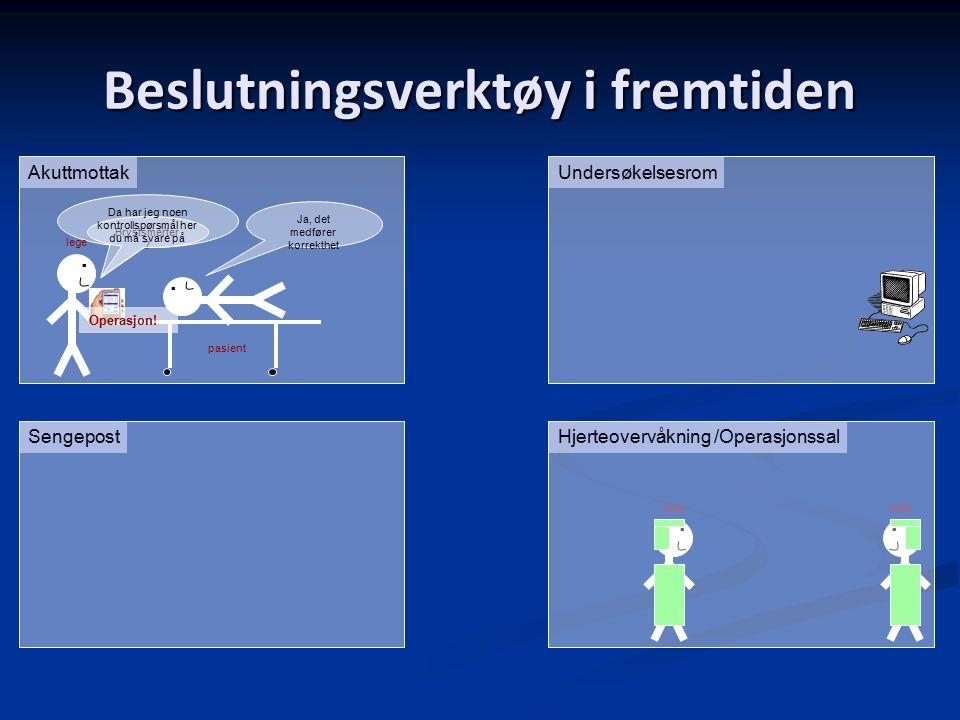 Beslutningsverktøy i fremtiden AkuttmottakUndersøkelsesrom.