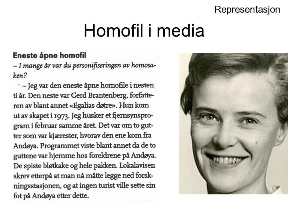 Homofil i media Representasjon