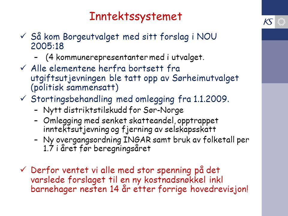 Borge-utvalgets forslag til ny kostnadsnøkkel for kommunene for Norge (lagt frem i 2005)