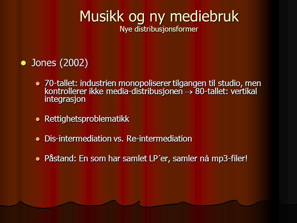 McCourt & Burkart (2003) McCourt & Burkart (2003) Rettighetene er tvunget til å institusjonalisere seg Rettighetene er tvunget til å institusjonalisere seg DRM - Digital Rights Management DRM - Digital Rights Management Napster-krisen Napster-krisen Musikk og ny mediebruk Nye distribusjonsformer