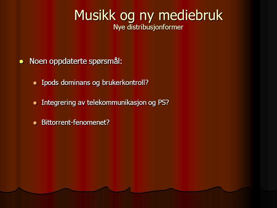 Fra emnesidene: Fra emnesidene: Emnet gir en innføring i musikkens rolle i mediene (film, radio, TV, nye medier) og musikk som mediert uttrykk.