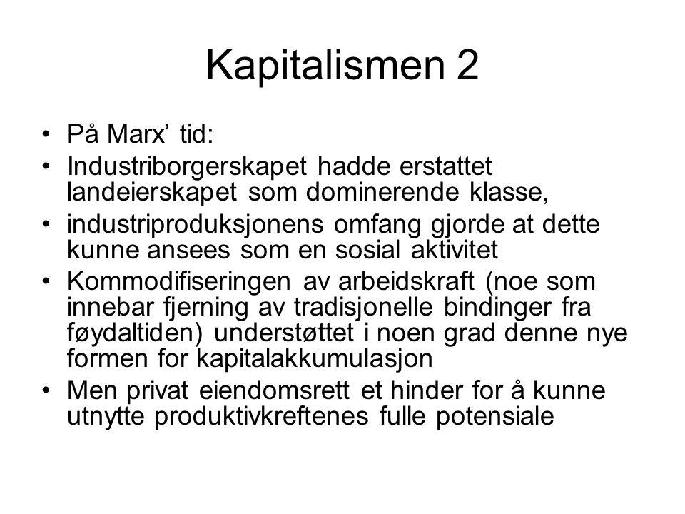 Marxistisk økonomi 1 Verdi, bruksverdi og bytteverdi Arbeidsverdilære (fra klassiske økonomer): En vares verdi kan tilbakeføres til den arbeidsmengden som går med til å produsere den.