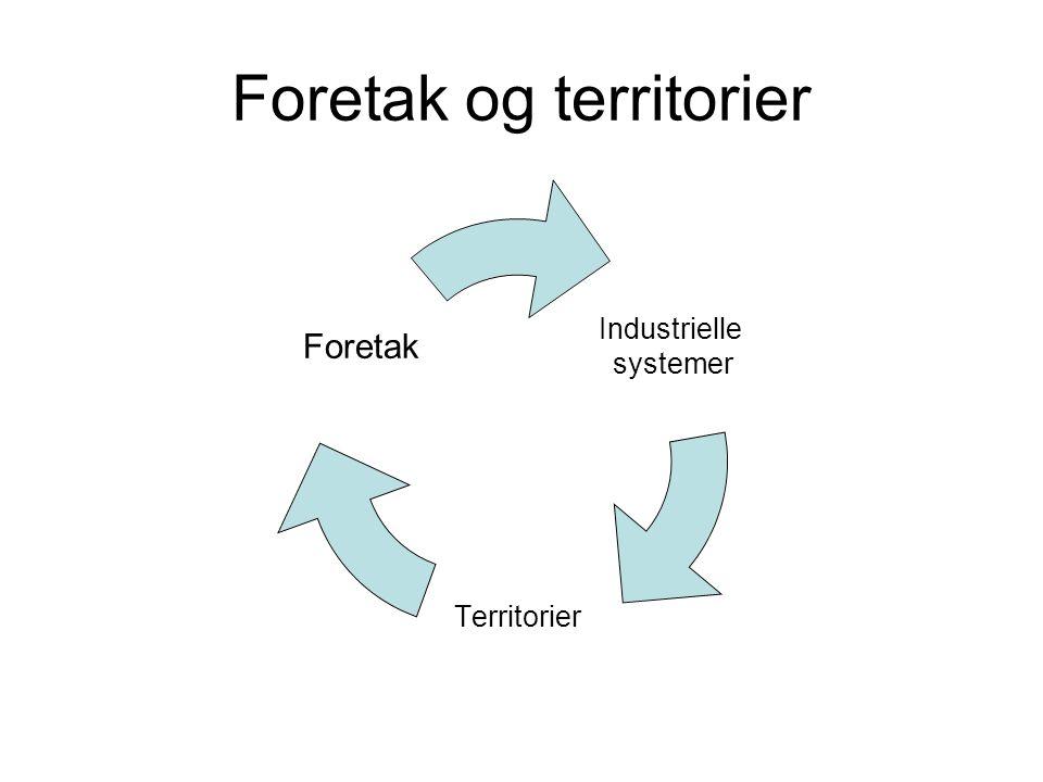 Foretak og territorier Industrielle systemer Territorier Foretak