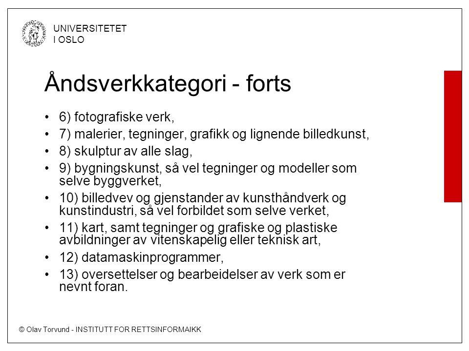 © Olav Torvund - INSTITUTT FOR RETTSINFORMAIKK UNIVERSITETET I OSLO Tripp Trapp