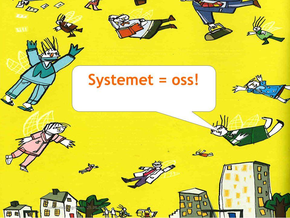 Systemet = oss! sykepleierkongressen 25.09.2012