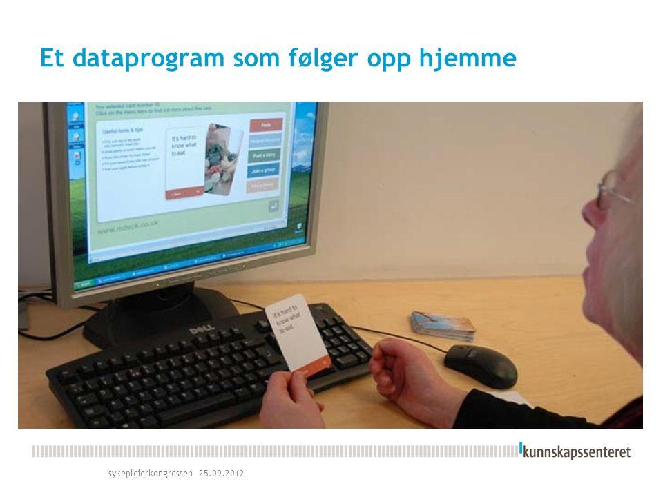 Et dataprogram som følger opp hjemme sykepleierkongressen 25.09.2012