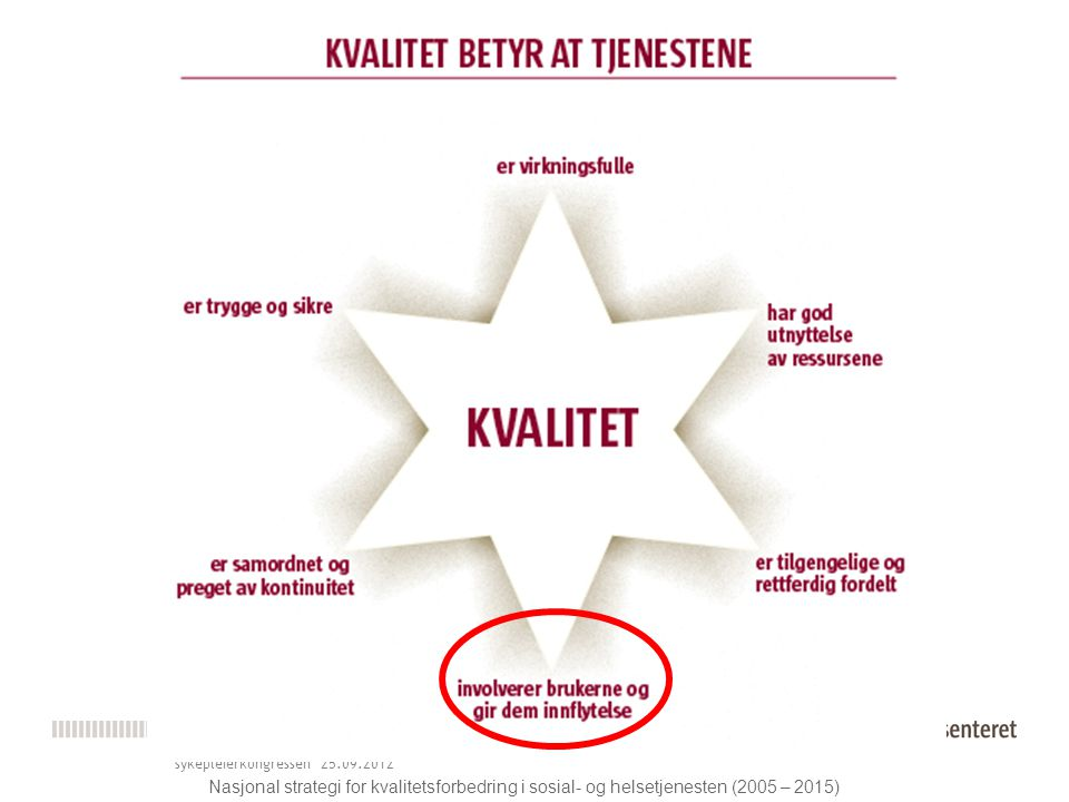 Stolte vinnere av kvalitetsprisen 2010 Norsk forening for kvalitet I helsetjenesten sykepleierkongressen 25.09.2012