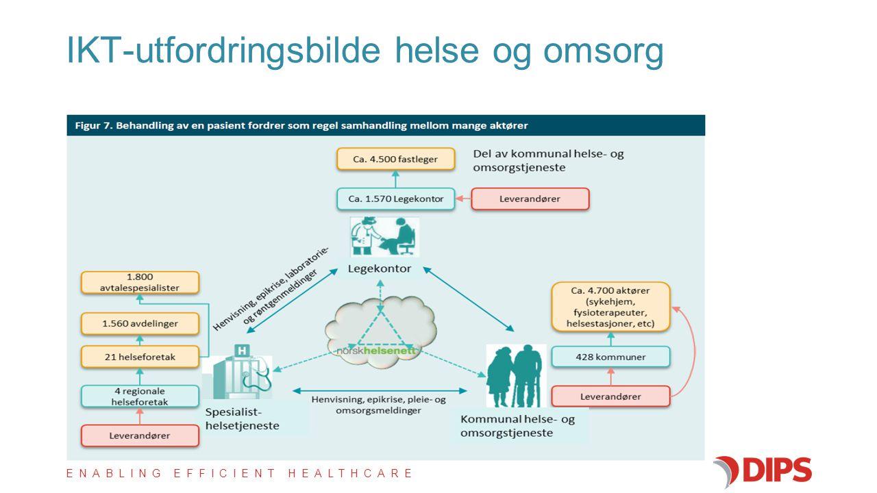 ENABLING EFFICIENT HEALTHCARE IKT-utfordringsbilde helse og omsorg