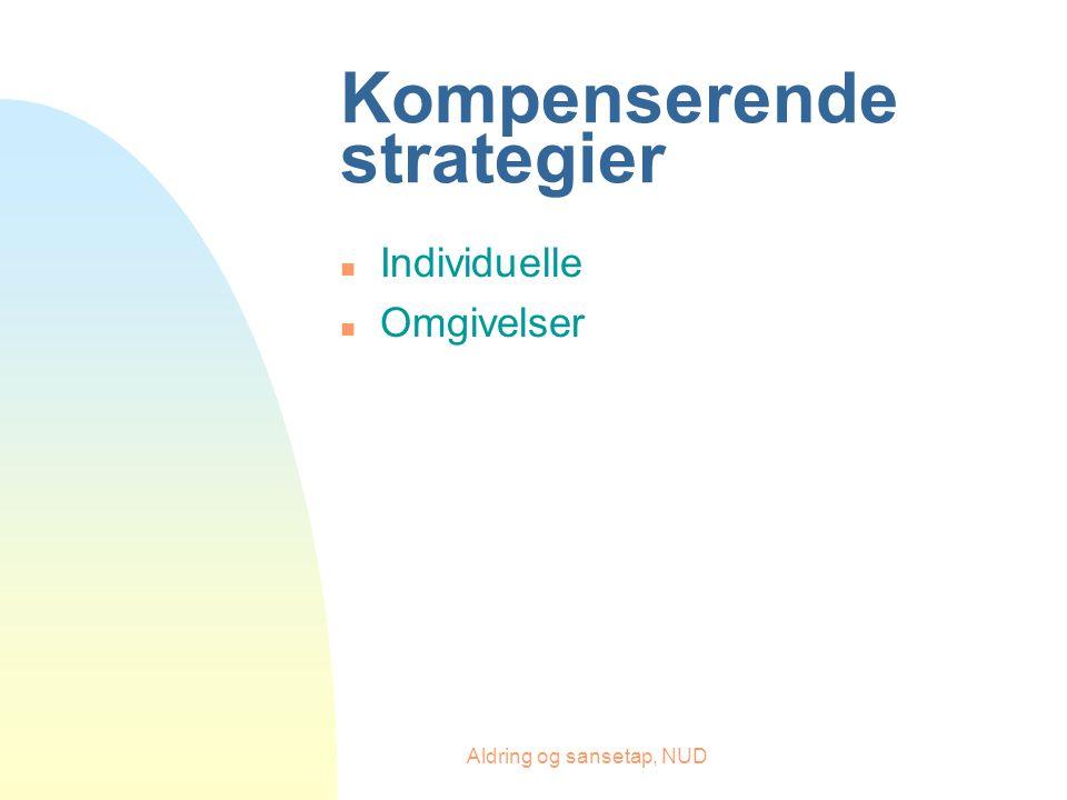 Aldring og sansetap, NUD Kompenserende strategier n Individuelle n Omgivelser