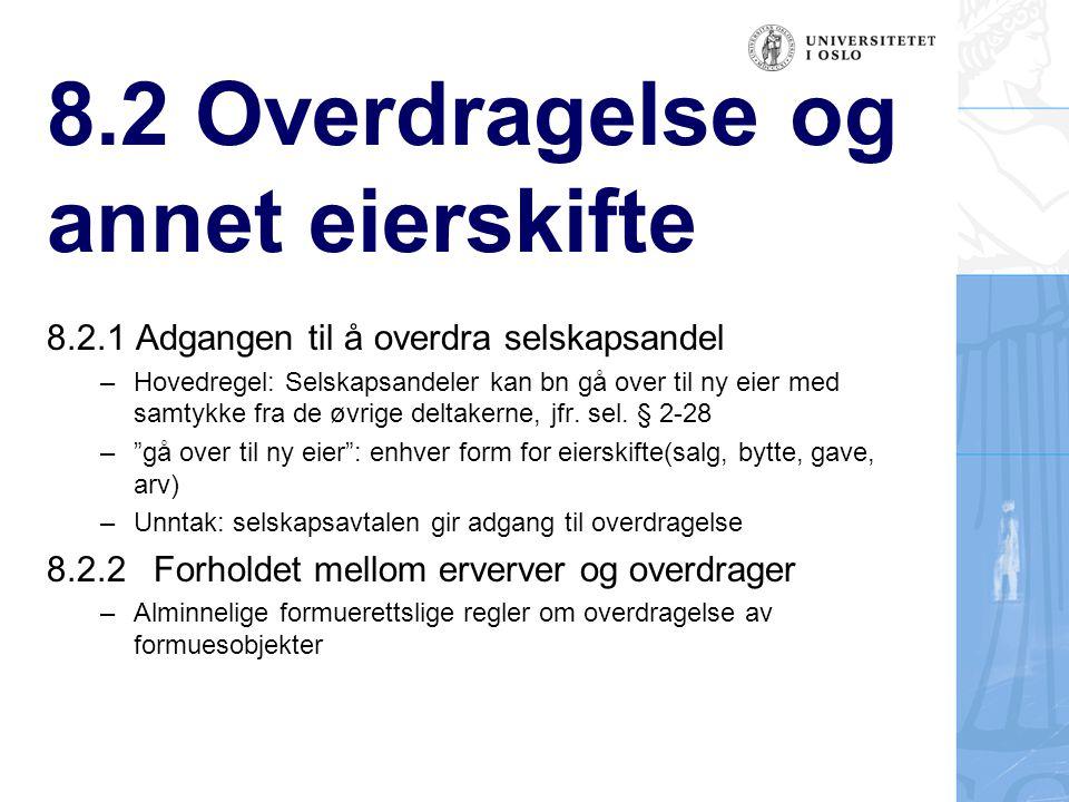 8.2 Overdragelse og annet eierskifte pkt.