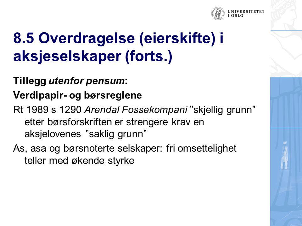 Verdipapir- og børsreglene § 6.