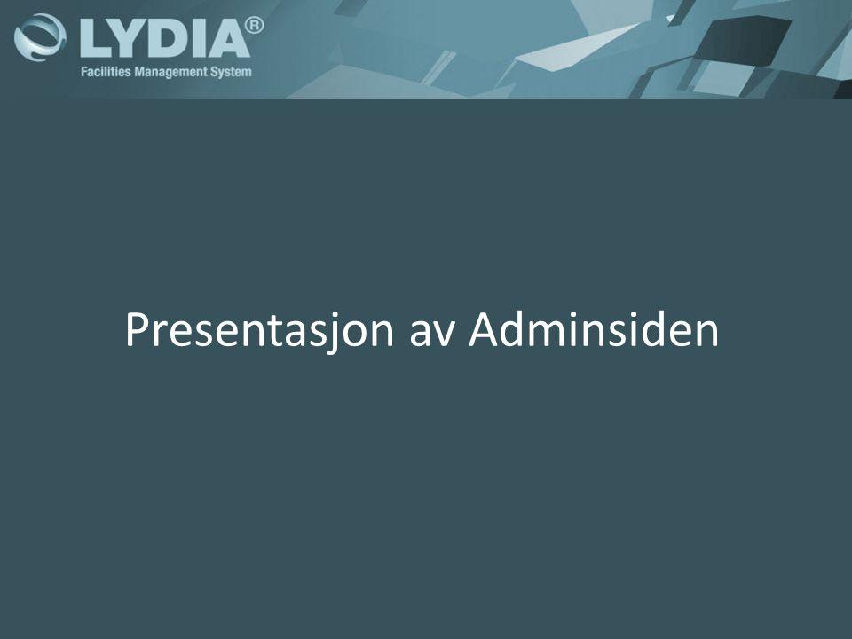 Presentasjon av Adminsiden