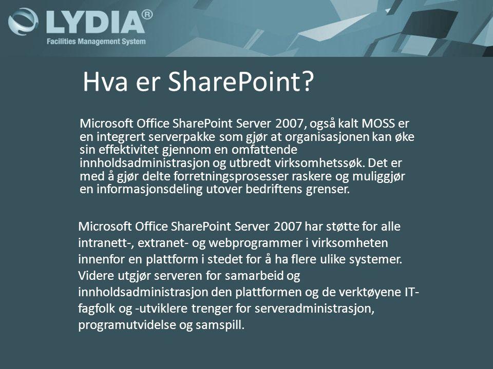 Hva er SharePoint.