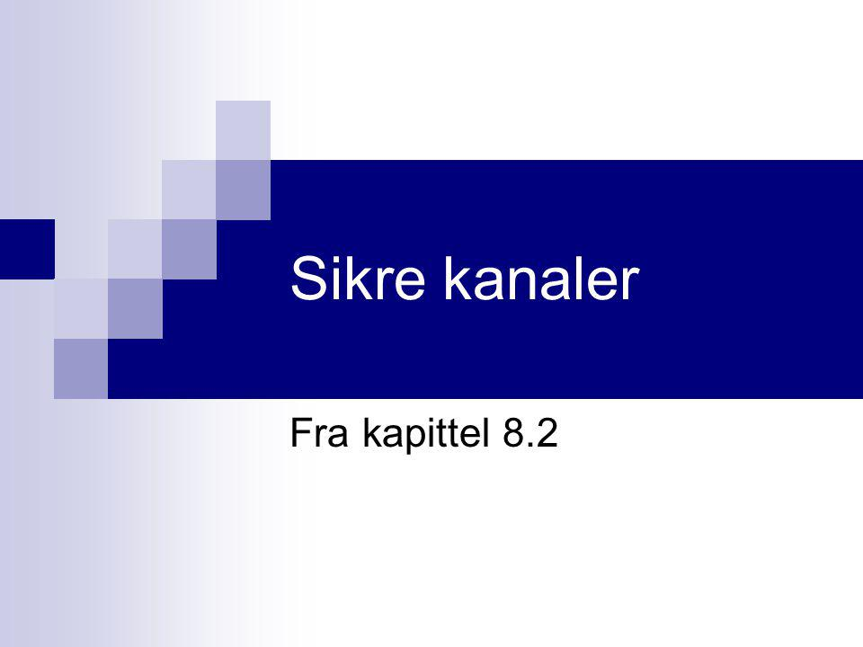 Sikre kanaler Fra kapittel 8.2