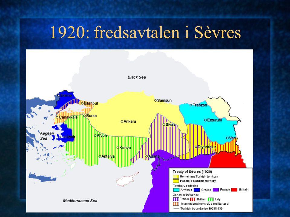 1920: fredsavtalen i Sèvres