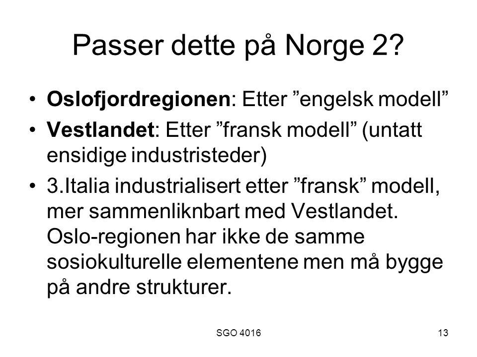 SGO 401613 Passer dette på Norge 2.