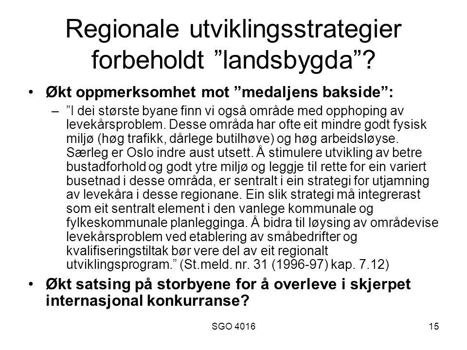 SGO 401615 Regionale utviklingsstrategier forbeholdt landsbygda .