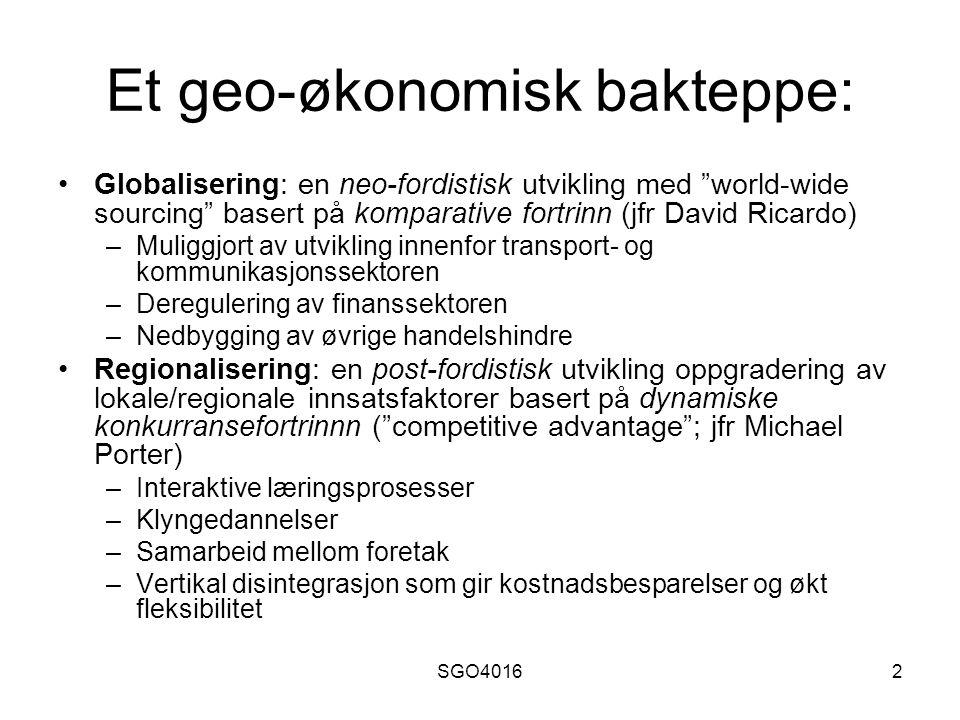 SGO401613 Sosial forankring: Embeddedness M.