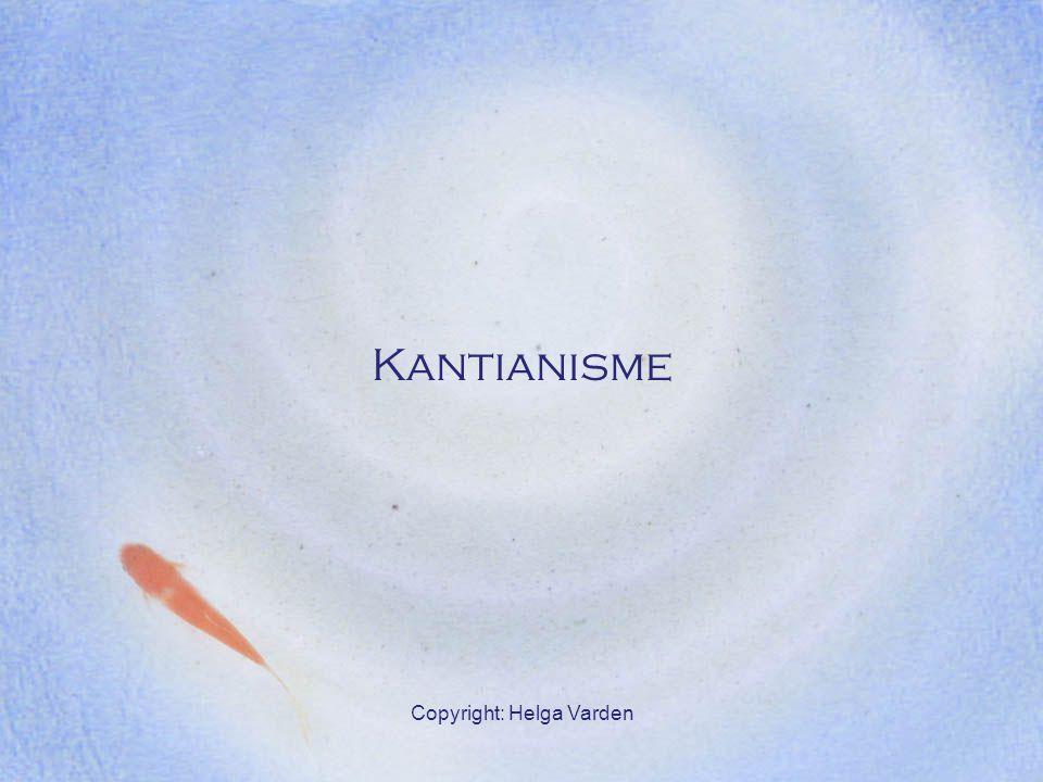 Copyright: Helga Varden Kantianisme